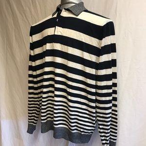 Paul Smith Long Sleeve Striped Polo  - Size XL